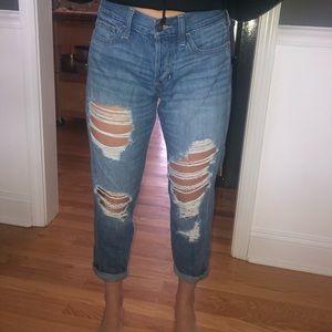 Hollister low rise boyfriend jeans